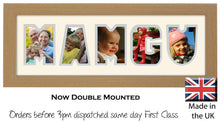 Mamgu Photo Frame Welsh Word Photo Frame Photos in a Word 1240A 450mm x 151mm mount size  , Choices of frames & Borders