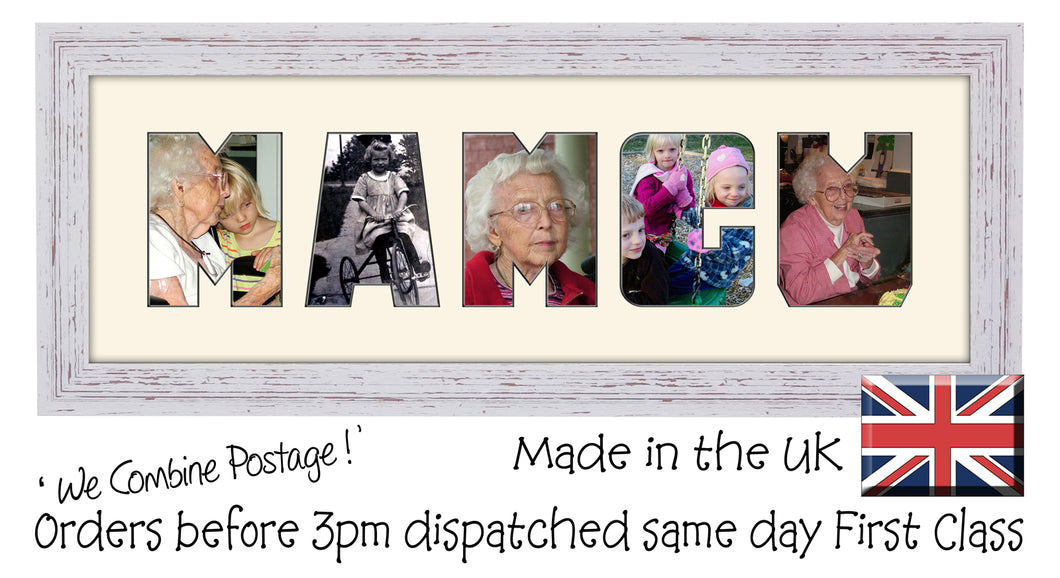 Mamgu Photo Frame Mamgu Word Photo Frame CBC 450mm x 151mm mount size  , Choices of frames & Borders
