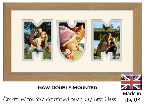 Mum Photo Frame - Mum Word Photo Frame 35AA 297mm x 151mm mount size  , Choices of frames & Borders