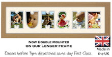 Mum & Me Photo Frame - Mum & Me Word Photo Frame 1283CC 545mm x 151mm mount size  , Choices of frames & Borders