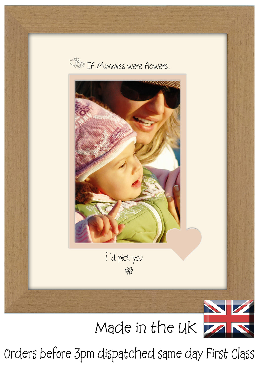 Mummy Photo Frame - If Mummies were flowers… i'd pick you Portrait photo frame 6