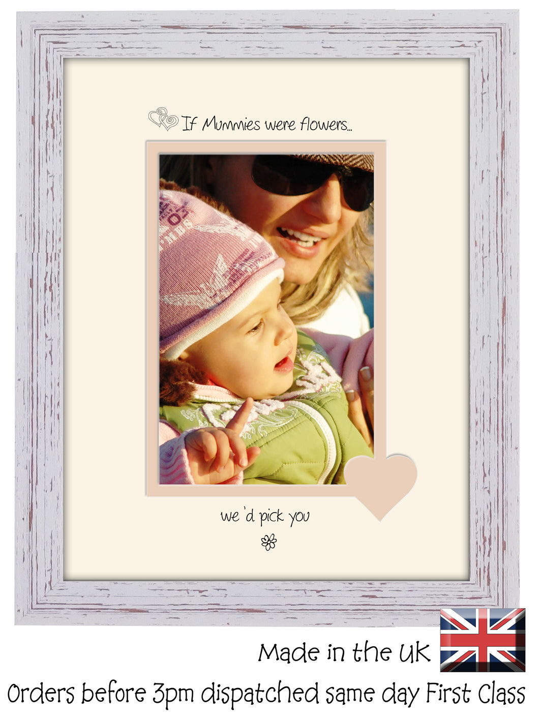 Mummy Photo Frame - If Mummies were flowers… we'd pick you Portrait photo frame 6