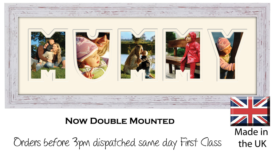 Mummy Photo Frame - Mummy Plain Word Photo Frame 888A 450mm x 151mm mount size  , Choices of frames & Borders