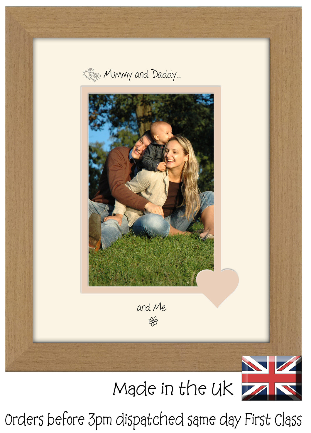 Mummy & Daddy Photo Frame - Mummy and Daddy… ...and me! Portrait ...