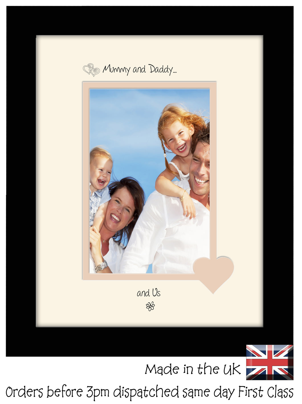 Mummy & Daddy Photo Frame - Mummy and Daddy… ...and us! Portrait photo frame 6