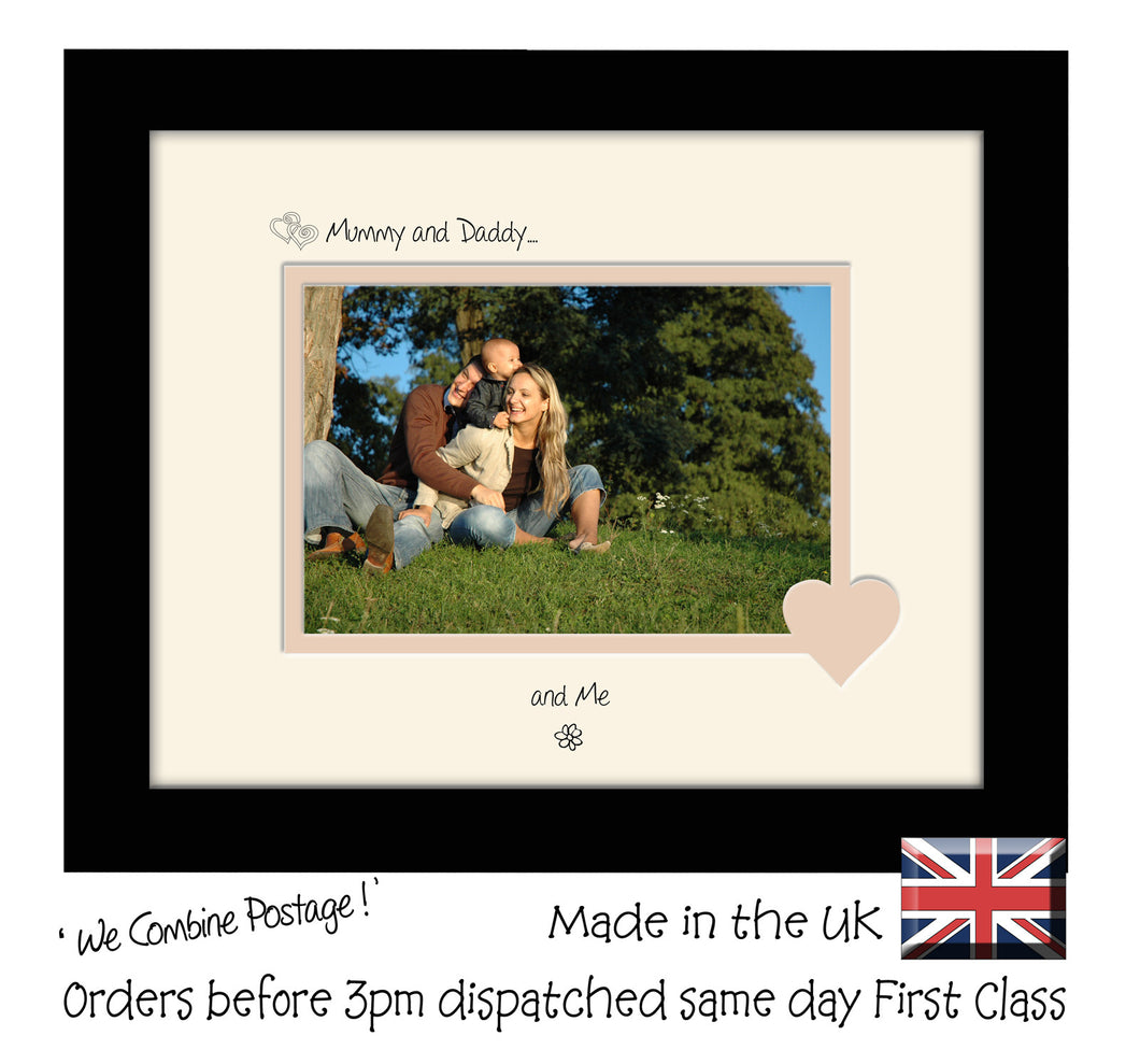 Mummy & Daddy Photo Frame - Mummy and Daddy… ...and me! Landscape photo frame 6