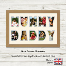 Mummy Daddy Photo Frame Word Photo frame 1348D 450mm x 297mm mount size  , Choices of frames & Borders
