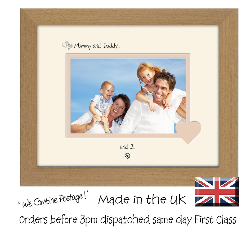 Mummy & Daddy Photo Frame - Mummy and Daddy… ...and us! Landscape photo frame 6