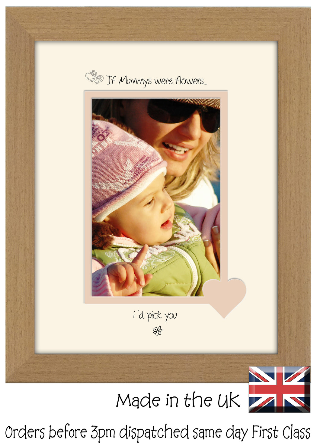 Mummy Photo Frame - If Mummys were flowers… I'd pick you Portrait photo frame 6