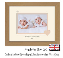 "Grandchildren Photo Frame - My precious Grandchildren Landscape photo frame 6""x4"" photo 770F 9""x7"" mount size  , Choices of frames & Borders"