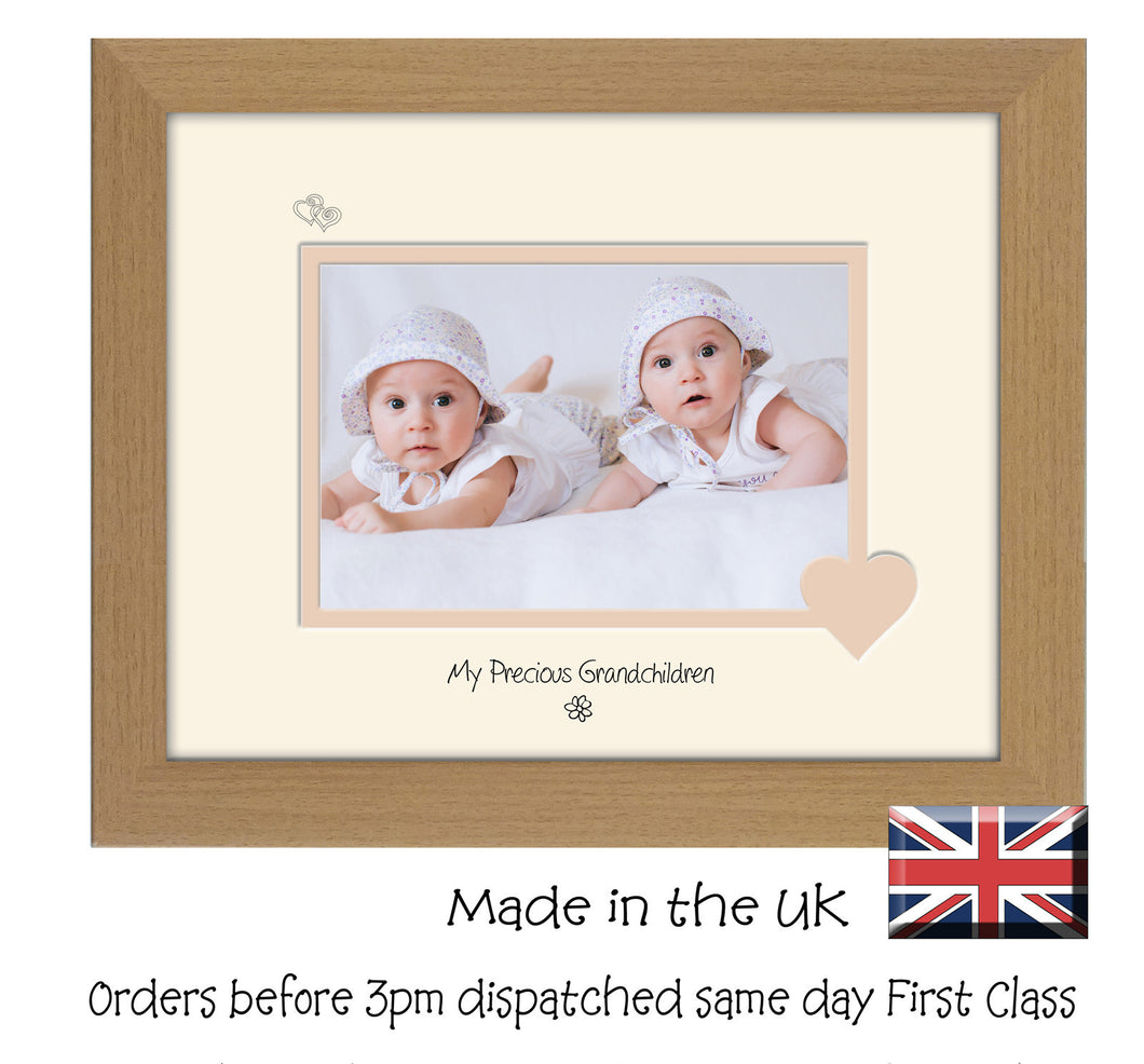 Grandchildren Photo Frame - My precious Grandchildren Landscape photo frame 6