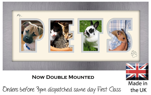 My Pets Photo Frame - My Pets Photo Frame 19BB 375mm x 151mm mount size  , Choices of frames & Borders