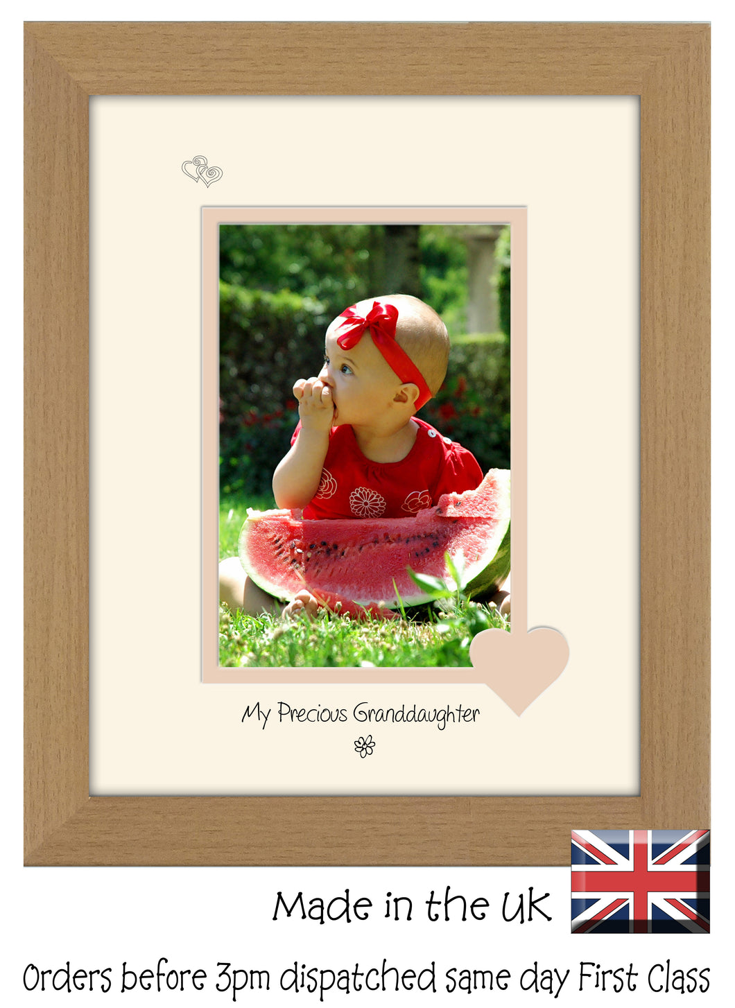 Granddaughter Photo Frame - My precious Granddaughter Portrait photo frame 6