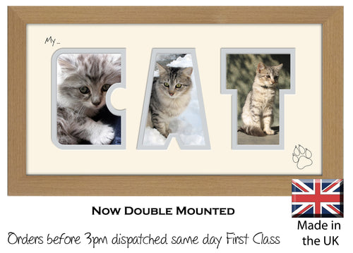 My Cat Photo Frame - My Cat Photo Frame 5AA 297mm x 151mm mount size  , Choices of frames & Borders