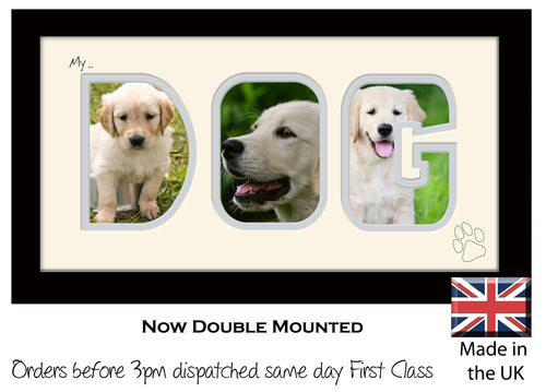 My Dog Photo Frame - My Dog Photo Frame 7AA 297mm x 151mm mount size  , Choices of frames & Borders