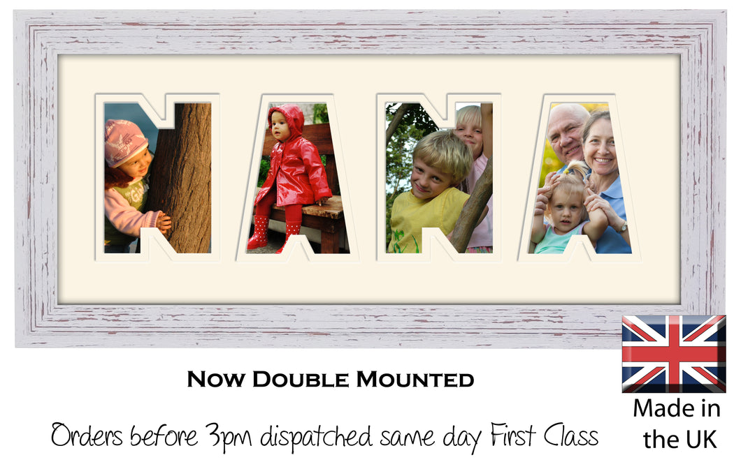 Nana Photo Frame - Nana Plain Word Photo Frame 889-BB 375mm x 151mm mount size  , Choices of frames & Borders