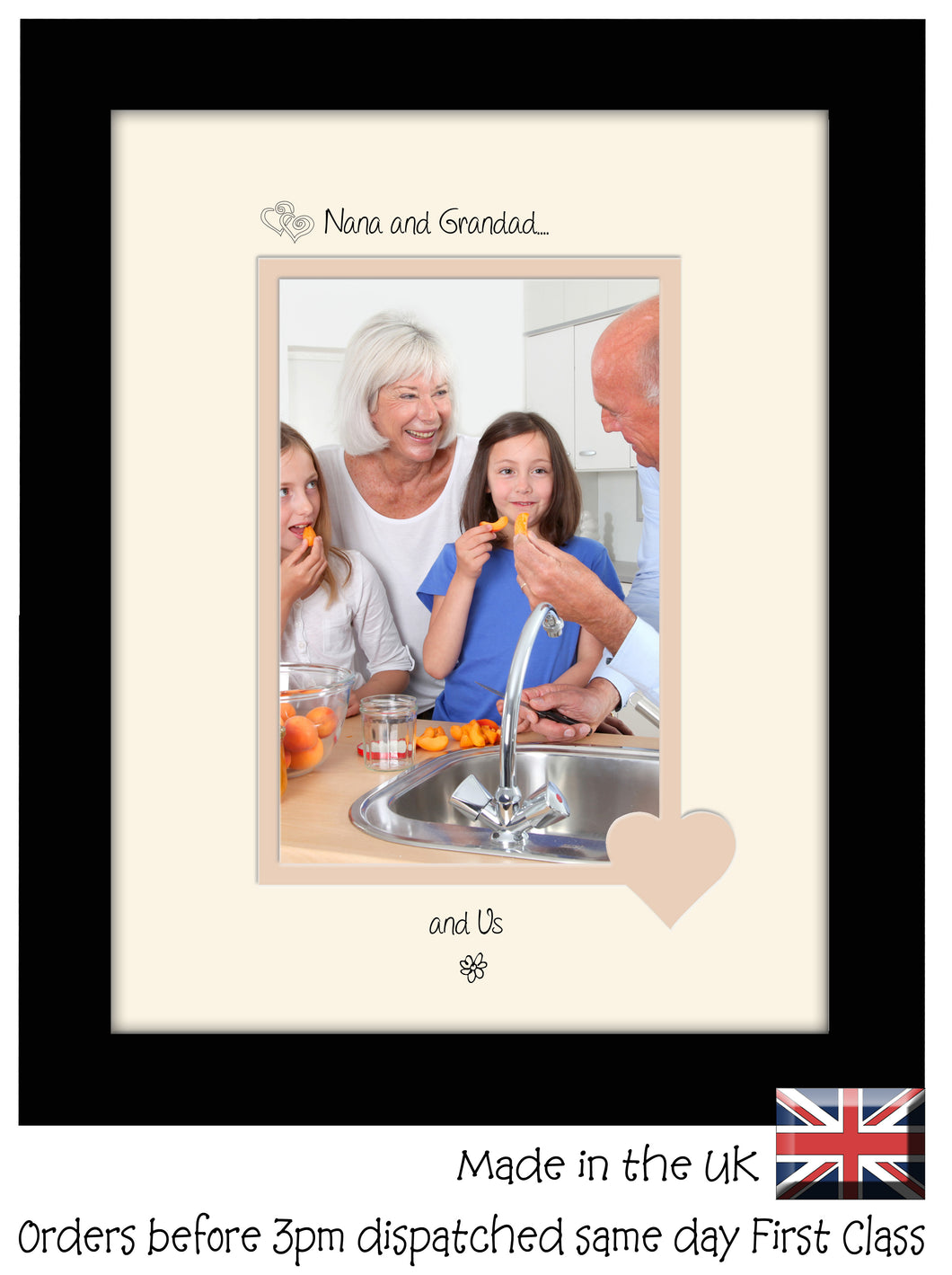 Nana & Grandad Photo Frame - Nana and Grandad… ...and us! Portrait photo frame 6