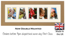 Nanna Photo Frame - Nanna Word Photo Frame 62A 450mm x 151mm mount size  , Choices of frames & Borders