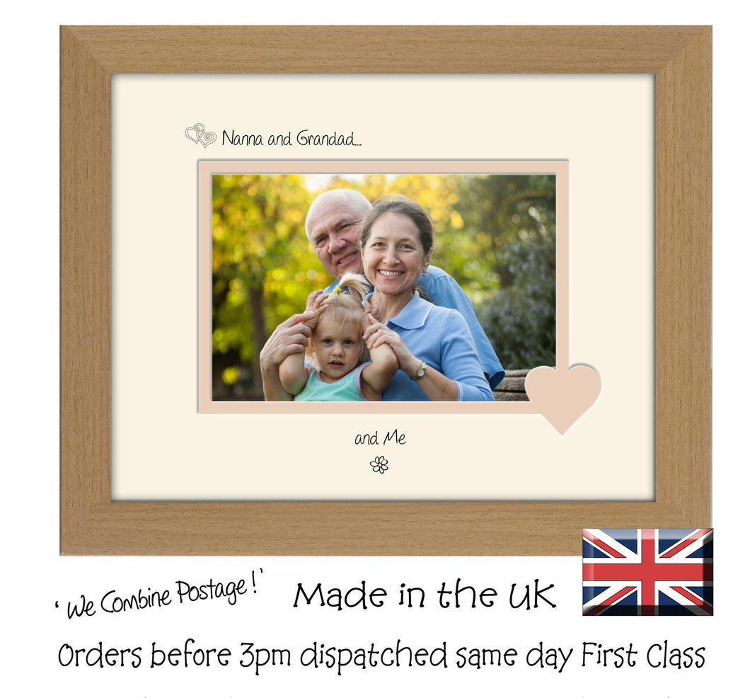Nanna & Grandad Photo Frame - Nanna and Grandad… ...and me! Landscape photo frame 6