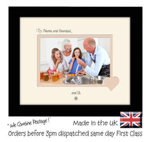 "Nanna & Grandad Photo Frame - Nanna and Grandad… ...and us! Landscape photo frame 6""x4"" photo 757F 9""x7"" mount size  , Choices of frames & Borders"