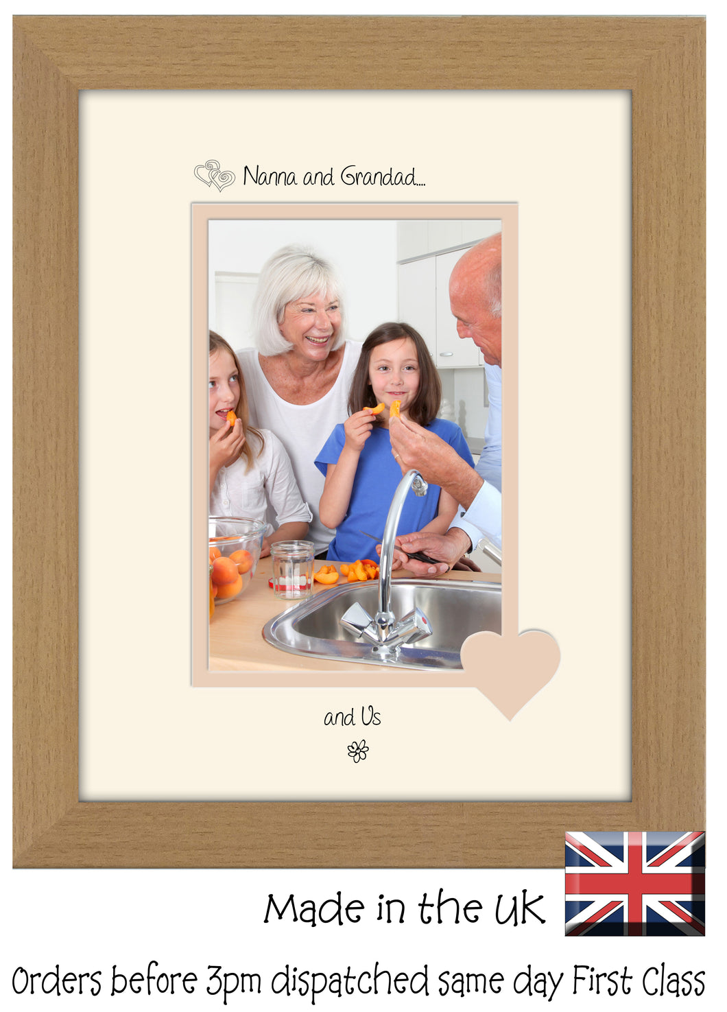 Nanna & Grandad Photo Frame - Nanna and Grandad… ...and us! Portrait photo frame 6