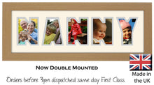Nanny Photo Frame - Nanny Word Photo Frame 51A 450mm x 151mm mount size  , Choices of frames & Borders