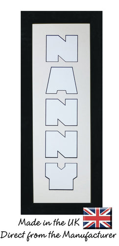 3 to 5 Letters Personalise Portrait Word / Name / Number Photo Frame CBC 450mm x 151mm mount size , Choices of frames & Borders