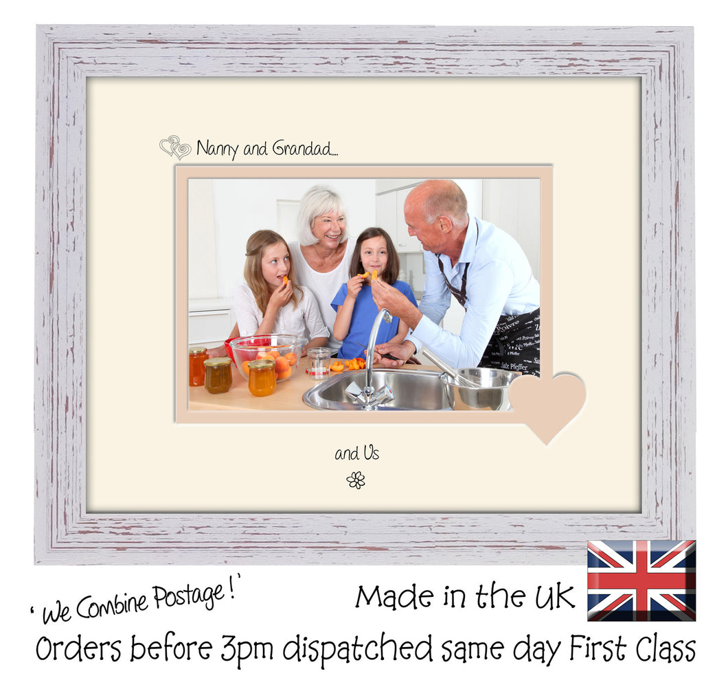 Nanny & Grandad Photo Frame - Nanny and Grandad… ...and us! Landscape photo frame 6
