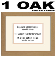 "Personalised 6""x4"" Landscape Photo Frame Double Mounted PERS-9X7LS-HRT 9""x7"" mount size  , Choices of frames & Borders"