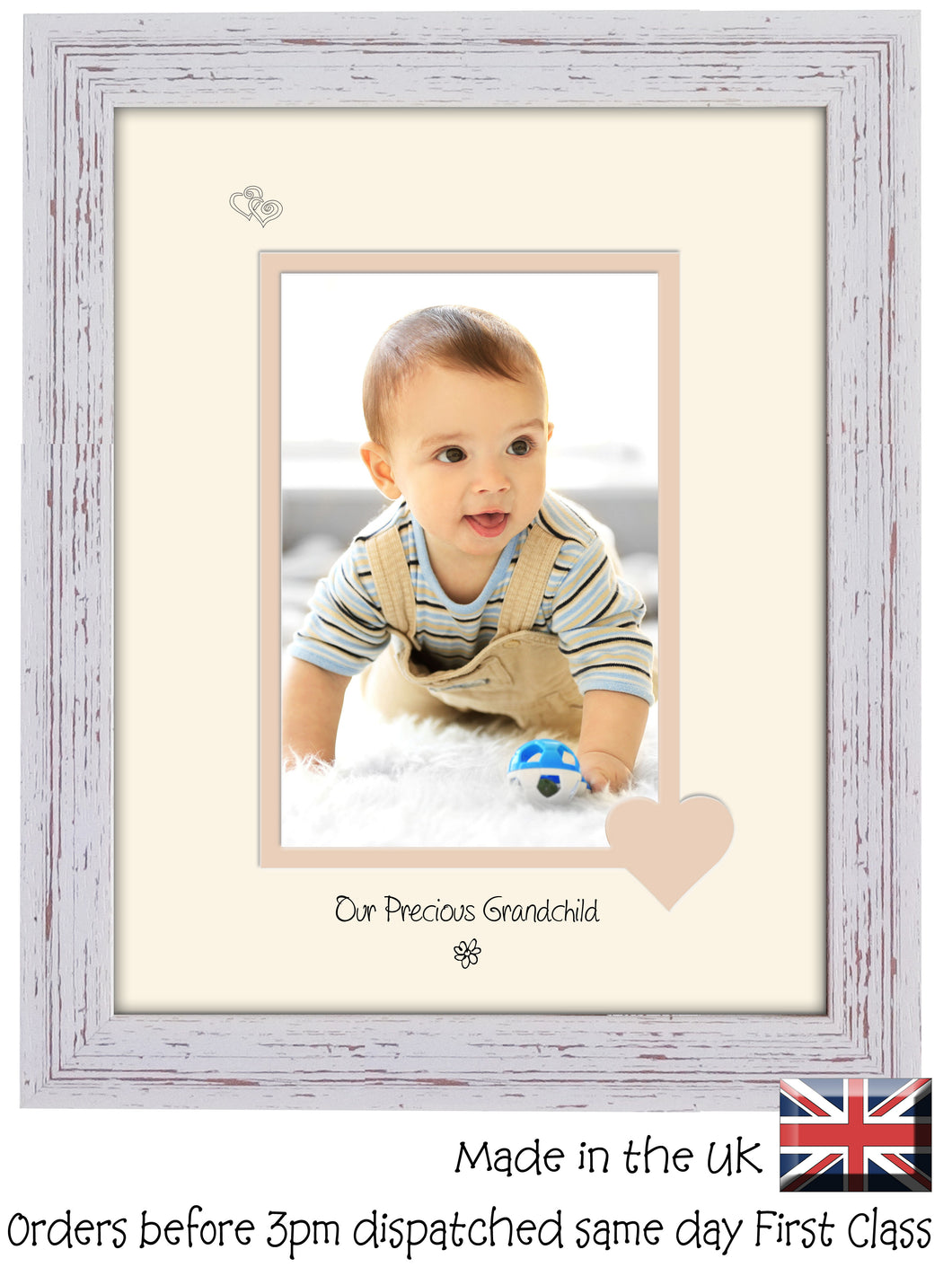 Grandchild Photo Frame - Our precious Grandchild Portrait photo frame 6