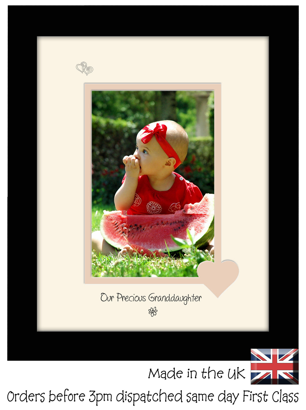 Granddaughter Photo Frame - Our precious Granddaughter Portrait photo frame 6