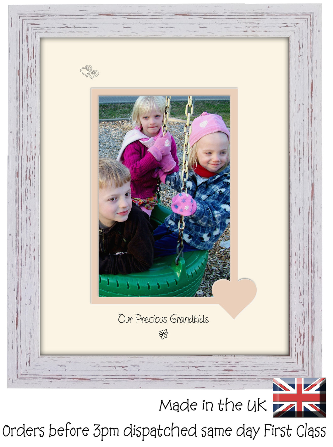 Grandkids Photo Frame - Our precious Grandkids Portrait photo frame 6