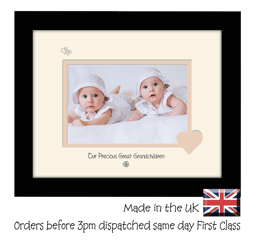 Great Grandchildren Photo Frame - Our precious Great Grandchildren Landscape photo frame 6