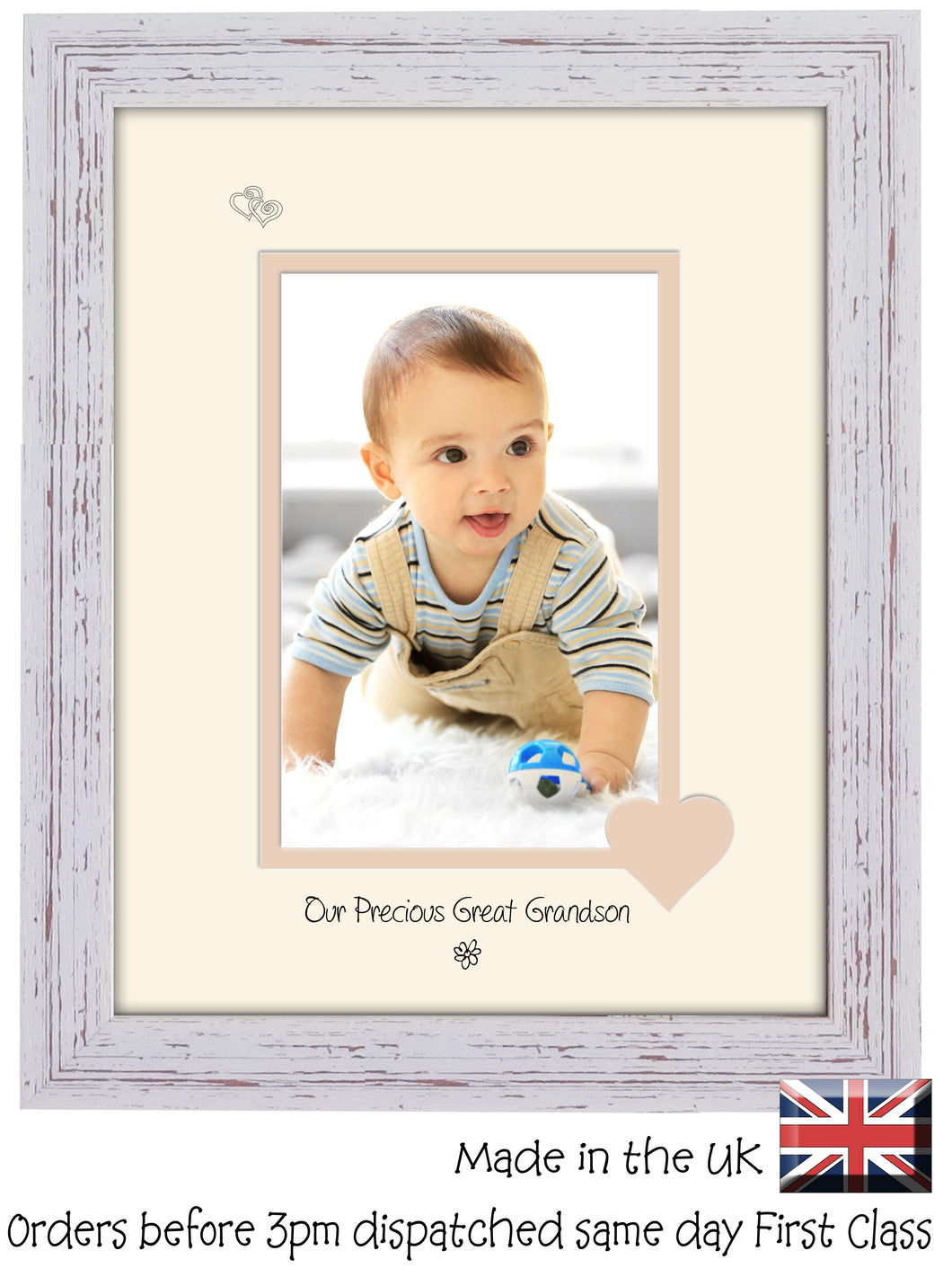 Great Grandson Photo Frame - Our precious Great Grandson Portrait photo frame 6