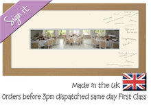 "17.5""x4"" Approx Panoramic Signing Photo Frame Double Mounted 954K 652mm x 297mm mount size , Choices of frames & Borders"