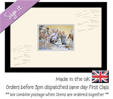 "7""x5"" Plain Signing no text Photo Frame Double Mounted 7""x5"" photo 947D 450mm x 297mm mount size , Choices of frames & Borders"