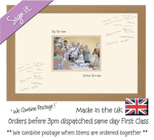 "Personalise Signing Guest Signature Photo Frame Gift Plain Aperture 7""x5"" Photo 914D 450mm x 297mm mount size  , Choices of frames & Borders"