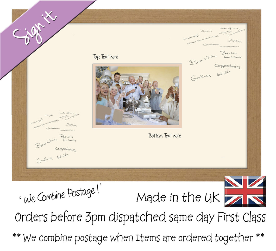 Personalise Signing Guest Signature Photo Frame Gift Plain Aperture 7