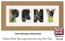 Pony Photo Frame - Pony Word Photo Frame 50BB 375mm x 151mm mount size  , Choices of frames & Borders