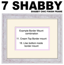 "25th Silver Wedding Anniversary Photo Frame - Twenty Fifth Anniversary Landscape photo frame 1191F 9""x7"" mount size  , Choices of frames & Borders"