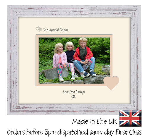 Cousin Photo Frame - To a Special Cousin ... Love you Always Landscape photo frame 6