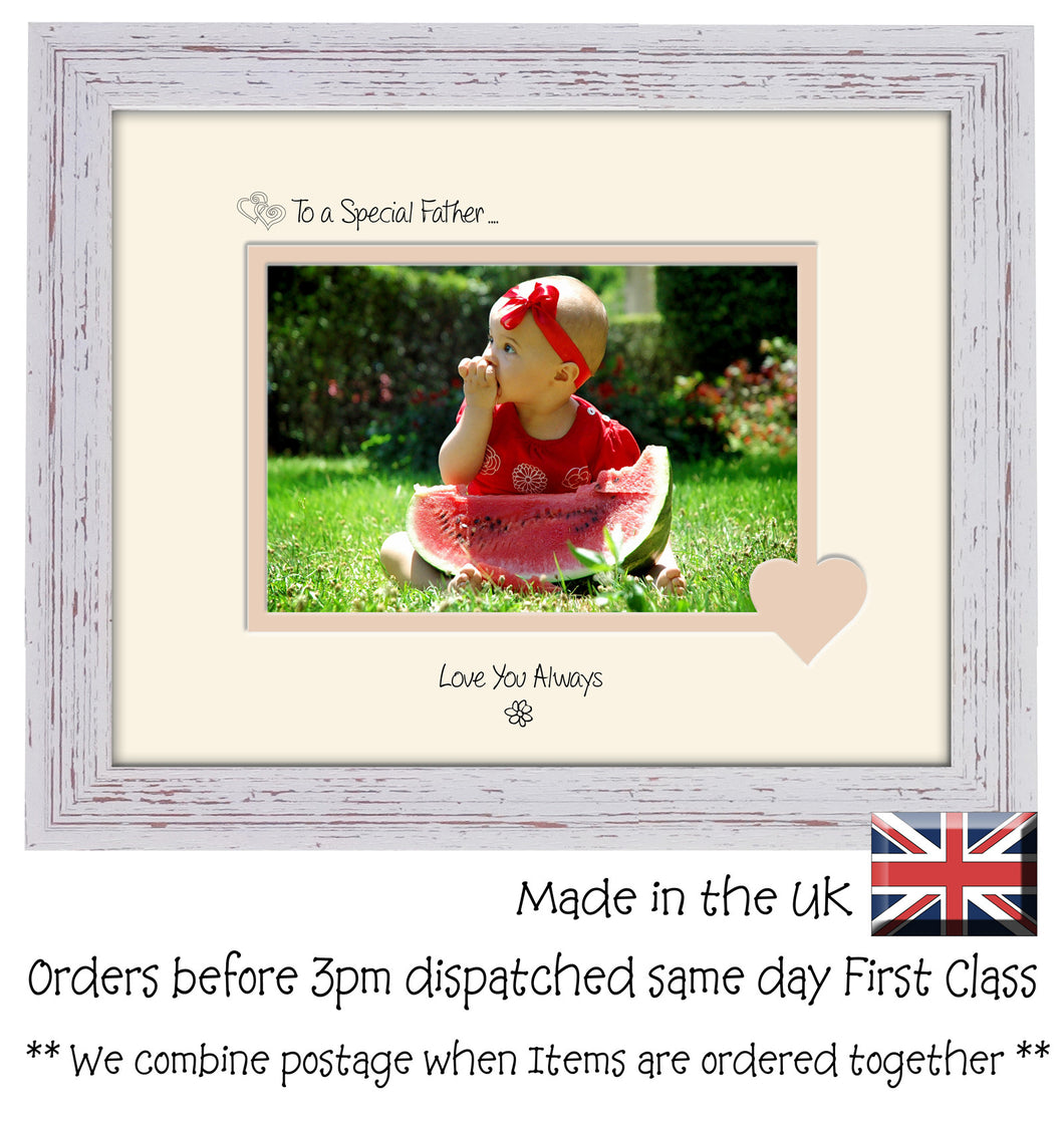 Father Photo Frame - To a Special Father ... Love you Always Landscape photo frame 6
