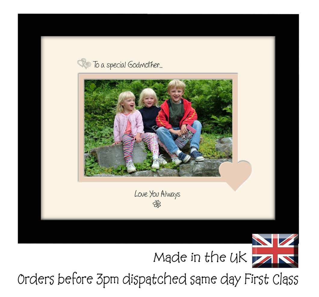 Godmother Photo Frame - To a Special Godmother ... Love you Always Landscape photo frame 6