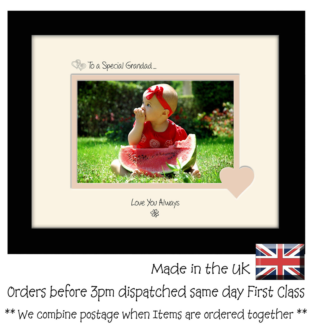 Grandad Photo Frame - To a Special Grandad ... Love you Always Landscape photo frame 6