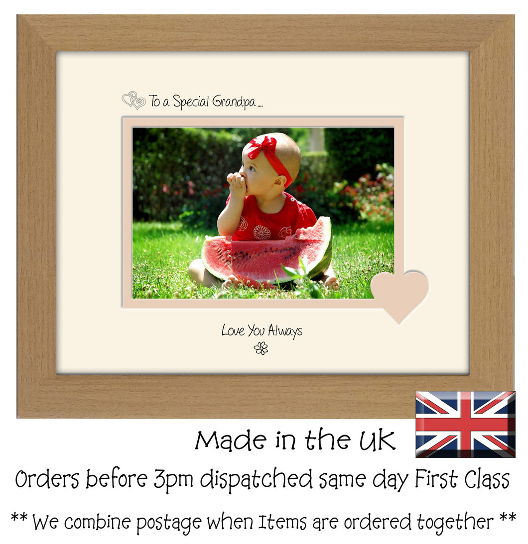 Grandpa Photo Frame - To a Special Grandpa ... Love you Always Landscape photo frame 6