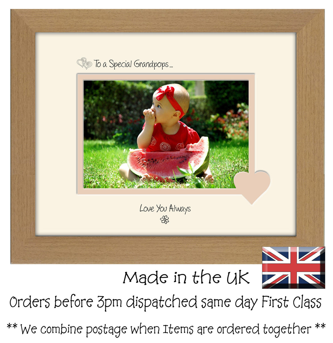 Grandpops Photo Frame - To a Special Grandpops ... Love you Always Landscape photo frame 6