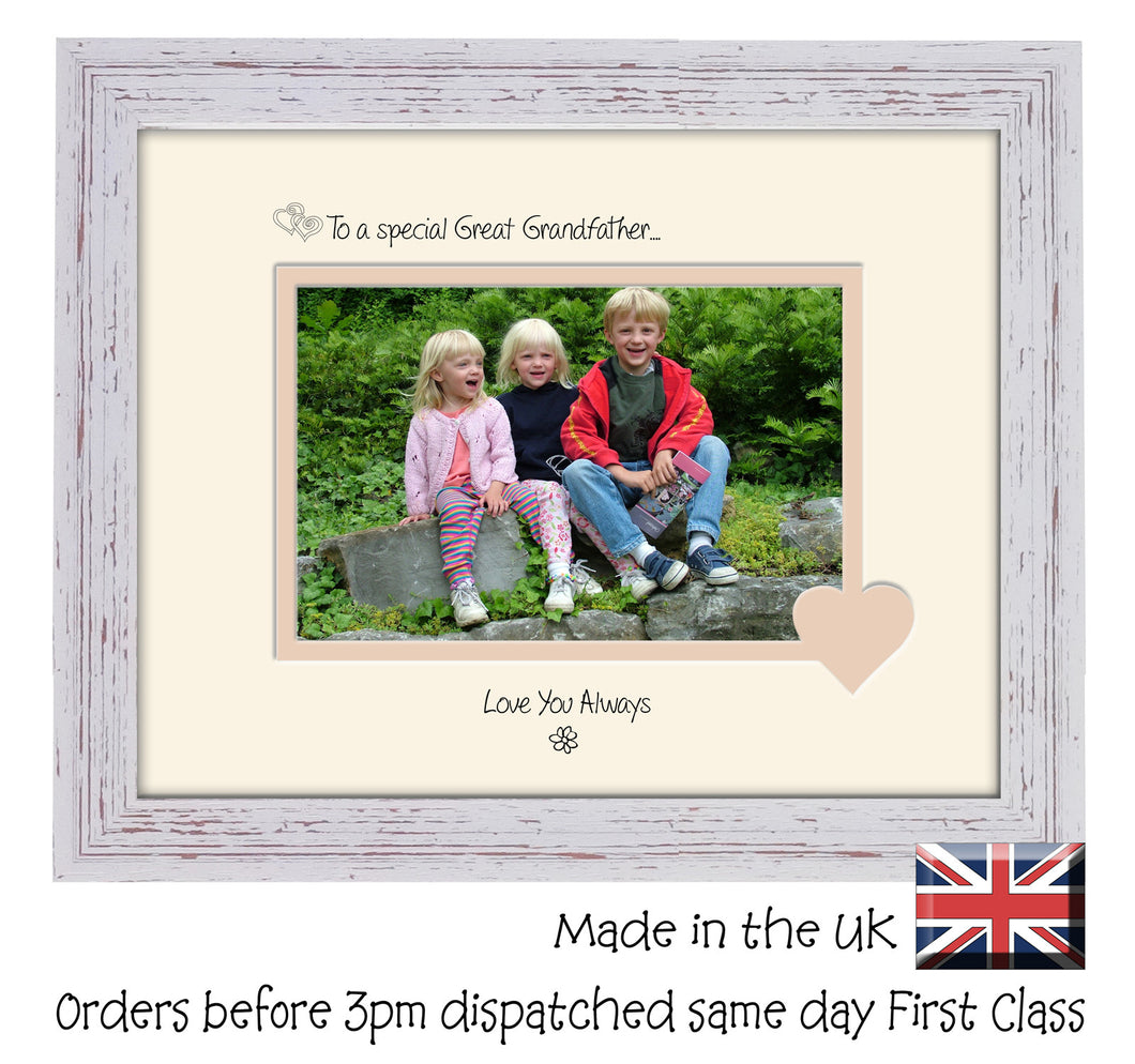Great Grandfather Photo Frame - To a Special Great Grandfather ... Love you Always Landscape photo frame 6