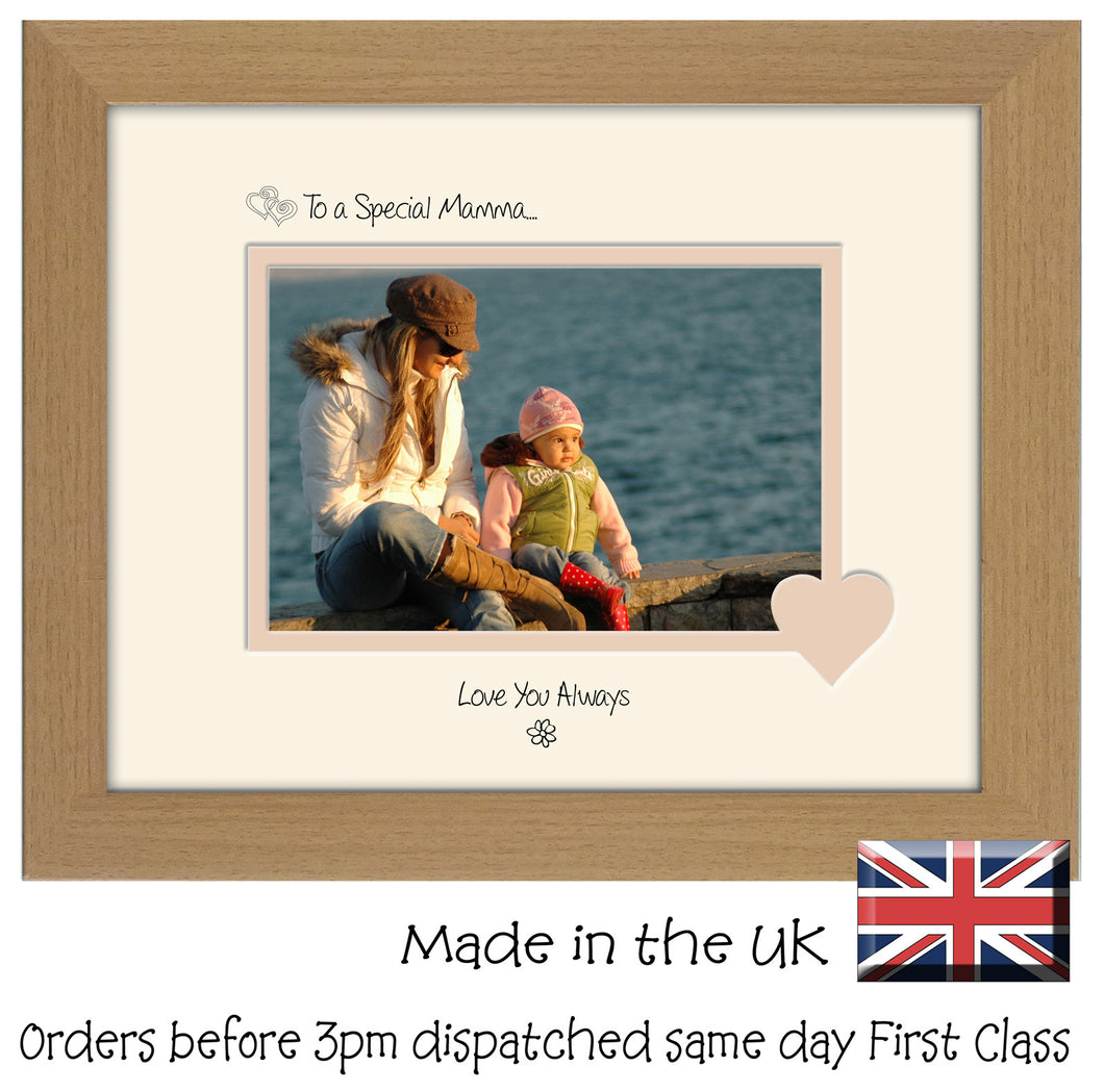 Mamma Photo Frame - To a Special Mamma... Love you Always Landscape photo frame 6