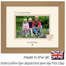 "Nanna Photo Frame - To a Special Nanna... Love you Always Landscape photo frame 6""x4"" photo 539F 9""x7"" mount size  , Choices of frames & Borders"