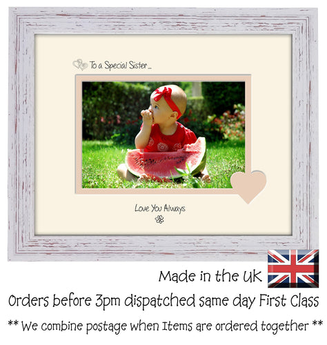 Sister Photo Frame - To a Special Sister ... Love you Always Landscape photo frame 6